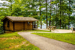 Log Cabin Surrounded By The Forest At Lake Santeetlah North Caro Royalty Free Stock Images