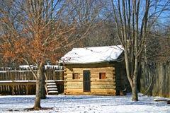 Log Cabin at Sycamore Shoals Stock Image