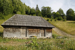 Log Cabin. Traditional log cabin in Maramures, Romania Royalty Free Stock Image