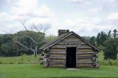 Valley Forge. Log cabin at valley forge pennsylvania where general george washington and the continental army encamped during the winter of 1777 to 1778 during Stock Photos