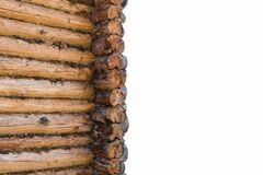 Free Log Cabin Wall Isolated Royalty Free Stock Photo - 178128145