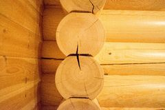 Log Cabin Wall Royalty Free Stock Image