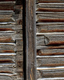 Log cabin wall panel detail Stock Images