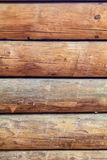 Log cabin wall vertical Stock Images