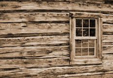 Log Cabin Wall and Window Royalty Free Stock Images