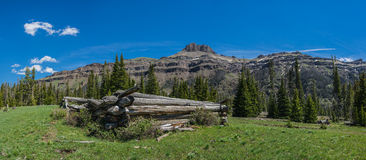 Log Cabin in Western Wilderness Royalty Free Stock Image