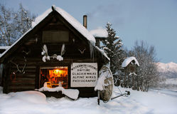 Log Cabin in the wilds. Alaska, USA Stock Photography