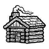 Log Cabin Wooden Cottage Royalty Free Stock Photo