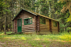 Log Cabin in the Woods Royalty Free Stock Images