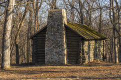 Log cabin in the woods. Royalty Free Stock Image