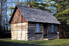 Log Cabin in the Woods Stock Images