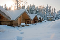 Log cabins Royalty Free Stock Photos