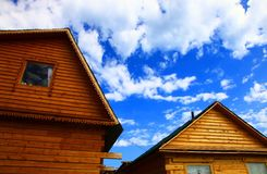 Log cabins Royalty Free Stock Photography
