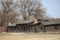 Log cabins. Royalty Free Stock Photography