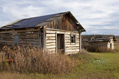 Log cabins Alberta, Canada Royalty Free Stock Images