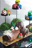 Log Cake Stock Images