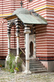 Small log in cells Rila Monastery in Bulgaria Stock Photos