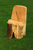 Log Chair Royalty Free Stock Images