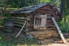 Free Log Chicken Coop At Humpback Rock Farm Museum Royalty Free Stock Photos - 101205448