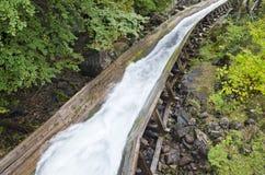 Log Chute. Closeup of a log chute Stock Photos