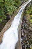 Log Chute. Closeup of a log chute #2 Stock Photos