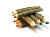Log color crayons Stock Photo