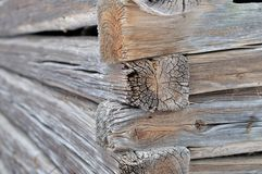 Log corner structure Stock Photos