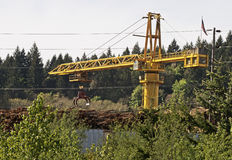 Log Crane Royalty Free Stock Image
