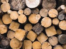 Log de madeira pilha textured da madeira serrada Foto de Stock