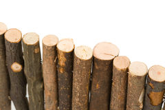 Log fence Stock Images