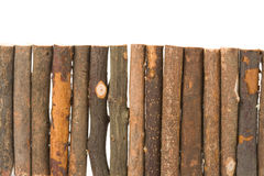 Log fence Royalty Free Stock Images