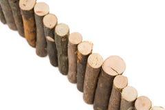 Log fence Stock Photo