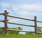 Log fence Stock Image