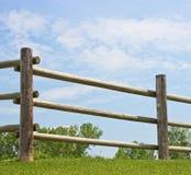 Log Fence Stock Image