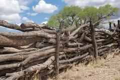 Log fence Royalty Free Stock Image