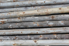 Log fence Royalty Free Stock Photography
