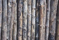 Log fence close up shot for background Stock Photos