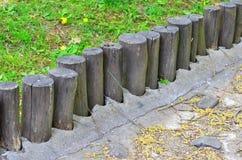 Log fence Stock Photos