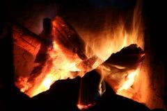 Log fire Stock Photos