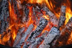 Log fire Royalty Free Stock Photos