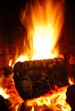 Log fire Stock Photography