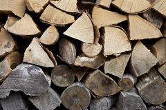Log fire background Royalty Free Stock Image