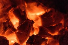 Log Fire Close Up Royalty Free Stock Image