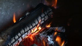 Log in fire video Royalty Free Stock Photography