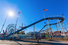 Log flume at Luna Park in Coney Island, NYC Stock Image