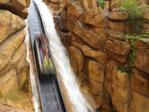 Log flume ride blurred drop Stock Photography