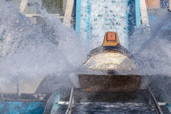 Log flume splash Royalty Free Stock Image