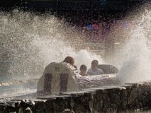 Log Flume Spray Stock Images