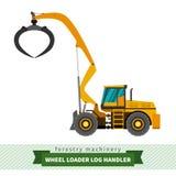 Log handler vehicle. Log handler forestry vehicle vector isolated illustration Stock Image