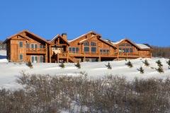 Log Home. Nice home for people to live and vacation Royalty Free Stock Photography